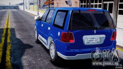 Lincoln Navigator 2004 für GTA 4 hinten links Ansicht