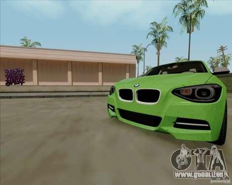 BMW M135i V1.0 2013 pour GTA San Andreas salon