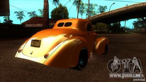 Americar Willys 1941 pour GTA San Andreas vue de droite