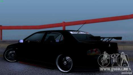 Mitsubishi Lancer Evolution 8 Drift für GTA San Andreas rechten Ansicht