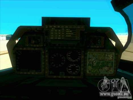F-14 Tomcat Schnee für GTA San Andreas obere Ansicht