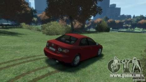 Mazda 6 MPS pour GTA 4 Vue arrière