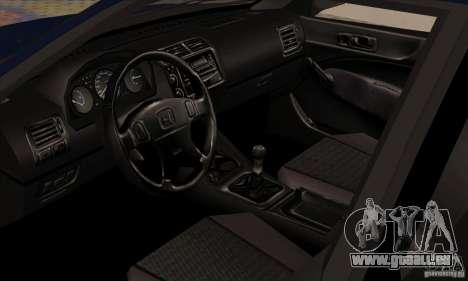 Honda Civic pour GTA San Andreas vue arrière