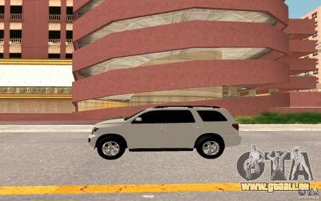 Toyota Sequoia 2011 pour GTA San Andreas vue intérieure