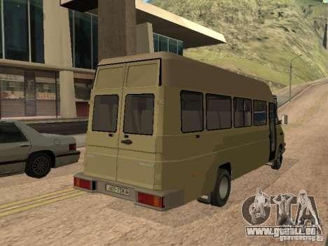 Iveco Turbo Daily für GTA San Andreas zurück linke Ansicht