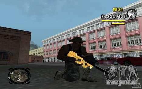 Gold Weapon Pack v 2.1 für GTA San Andreas dritten Screenshot