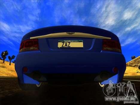 Aston Martin V12 Vanquish V1.0 für GTA San Andreas Innenansicht