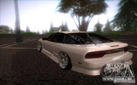 Nissan 240SX DriftMonkey für GTA San Andreas zurück linke Ansicht