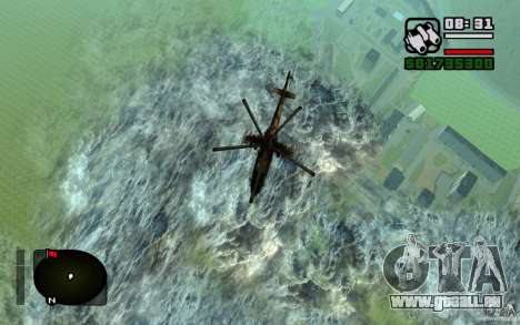 Mi-24 pour GTA San Andreas vue de droite