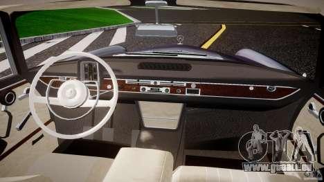 Mercedes-Benz W111 v1.0 pour GTA 4 Vue arrière