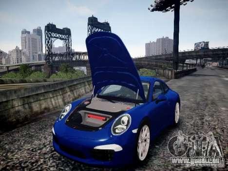 Porsche 911 Carrera S 2012 pour GTA 4 est une vue de l'intérieur