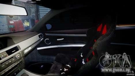 BMW M3 Hamann E92 pour GTA 4 est une vue de l'intérieur