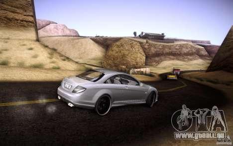Mercedes Benz CL65 AMG pour GTA San Andreas vue de dessus