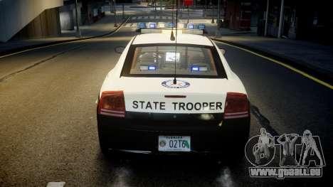 Dodge Charger Florida Highway Patrol [ELS] pour GTA 4 est une vue de dessous