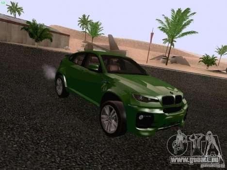 BMW X6 LT pour GTA San Andreas vue de droite