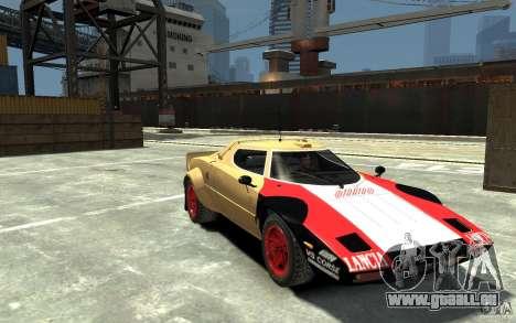 Lancia Stratos pour GTA 4 Vue arrière