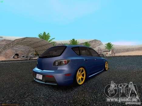 Mazda Speed 3 für GTA San Andreas zurück linke Ansicht