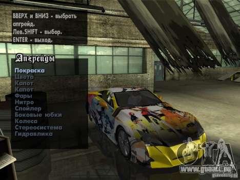 Lexus LFA Custom pour GTA San Andreas vue arrière