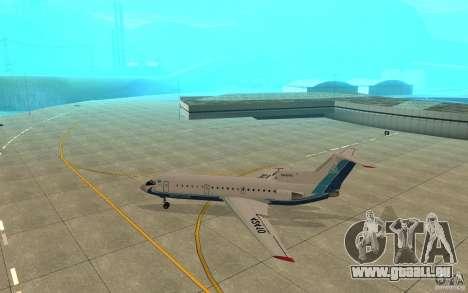 Jak-42 d Scat (Kasachstan) für GTA San Andreas zurück linke Ansicht