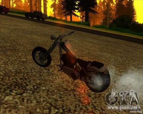 Hexer bike pour GTA San Andreas vue de dessus