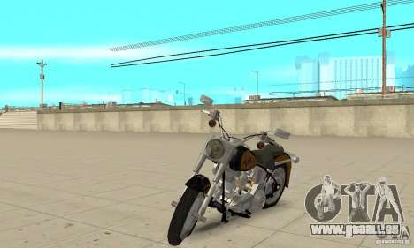 Harley Davidson FLSTF (Fat Boy) v2.0 Skin 3 pour GTA San Andreas