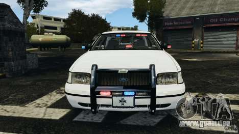 Ford Crown Victoria Police Unit [ELS] für GTA 4 Innen