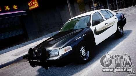 Ford Crown Victoria Massachusetts Police [ELS] pour GTA 4 vue de dessus