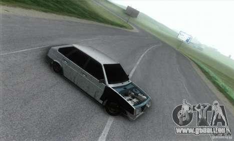 Vaz 2109 Hobo pour GTA San Andreas laissé vue