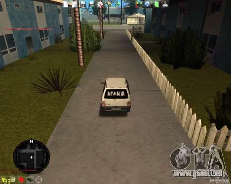 VAZ 11113 OKA pour GTA San Andreas sur la vue arrière gauche