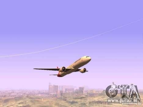 Boeing 787 Dreamliner Qantas für GTA San Andreas Rückansicht