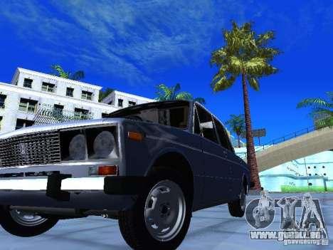 VAZ 2106 pour GTA San Andreas vue de dessous