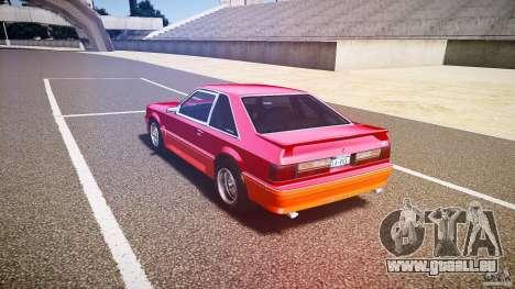 Ford Mustang GT 1993 Rims 2 pour GTA 4 Vue arrière de la gauche