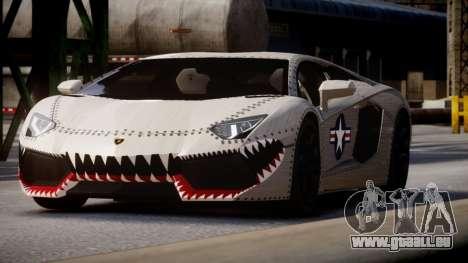 Lamborghini Aventador LP700-4 2012 USAF pour GTA 4 Vue arrière de la gauche