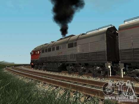 2te116u-0040 RZD pour GTA San Andreas vue arrière