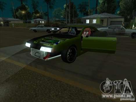 Elegy Green Line für GTA San Andreas Rückansicht