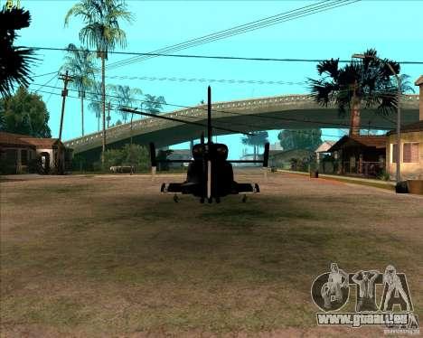 Airwolf pour GTA San Andreas vue de droite