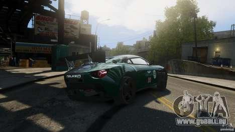 Aston Martin V12 Zagato 2012 pour GTA 4 Vue arrière de la gauche