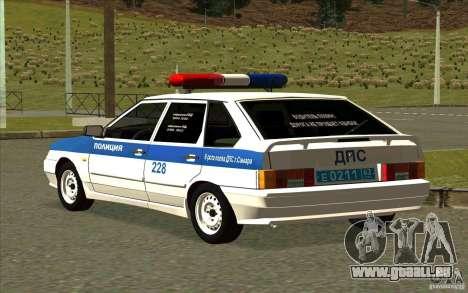 VAZ 2114 Polizei DPS für GTA San Andreas linke Ansicht