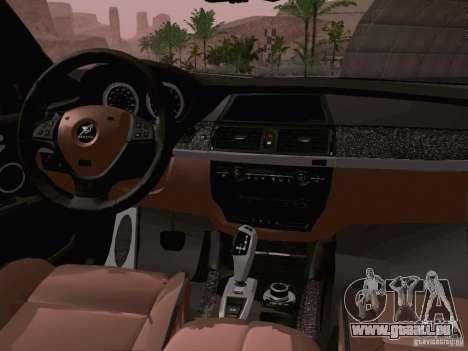 BMW X6 LT pour GTA San Andreas vue arrière