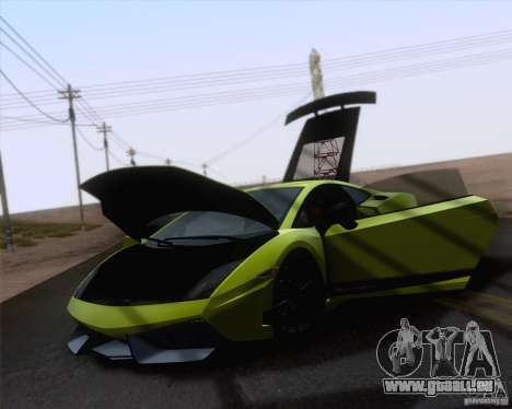 Lamborghini Gallardo LP570-4 Superleggera 2011 für GTA San Andreas zurück linke Ansicht