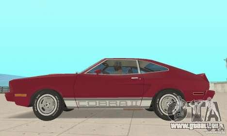 Ford Mustang II 1976 Cobra v. 1.01 für GTA San Andreas zurück linke Ansicht