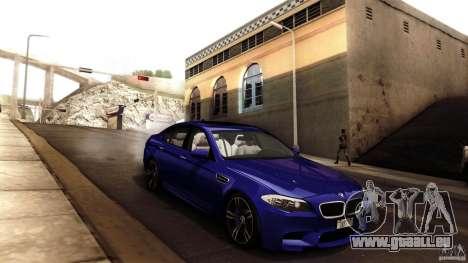 BMW M5 F10 2012 pour GTA San Andreas salon