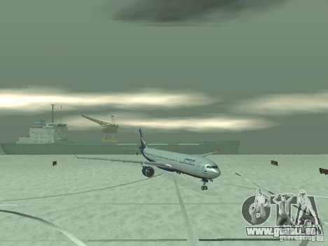 Airbus A330-300 Aeroflot pour GTA San Andreas sur la vue arrière gauche