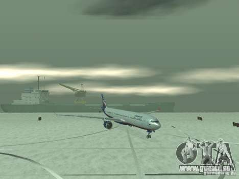 Airbus A330-300 Aeroflot für GTA San Andreas zurück linke Ansicht