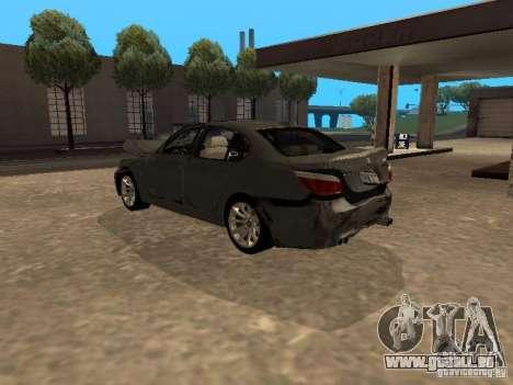 BMW M5 E60 2009 v2 pour GTA San Andreas moteur