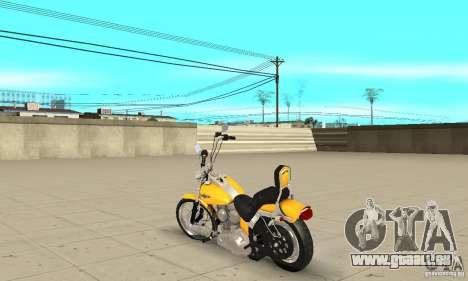 Harley Davidson softail Skin 1 pour GTA San Andreas sur la vue arrière gauche