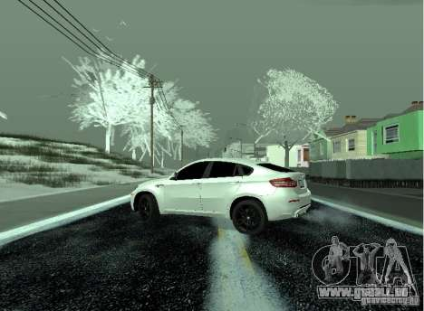BMW X6M E72 für GTA San Andreas zurück linke Ansicht