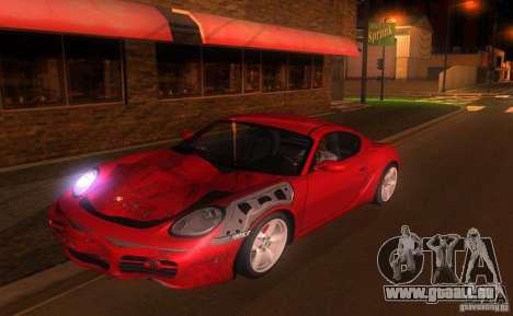 Porsche Cayman S für GTA San Andreas obere Ansicht
