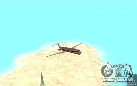 McDonnell Doeuglas MD-80 für GTA San Andreas linke Ansicht