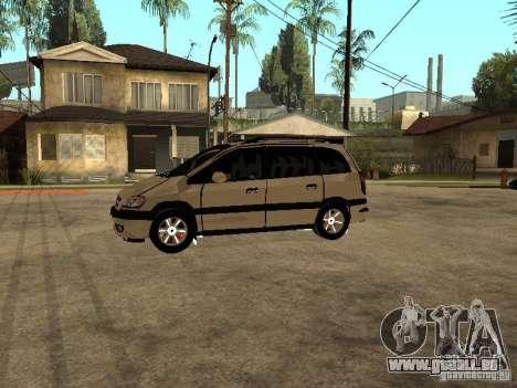 Opel Zafira pour GTA San Andreas laissé vue